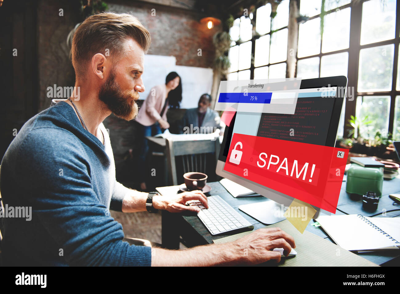 Fraud Hacking Spam Scam Phising Concept - Stock Image