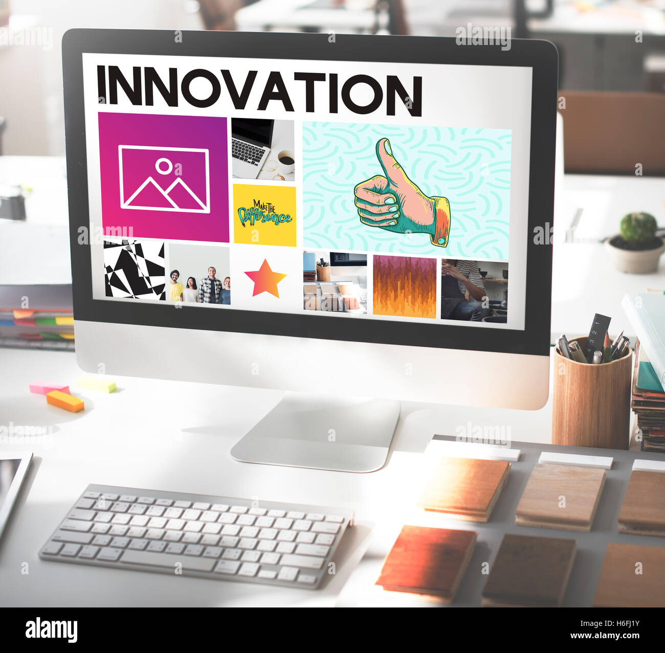 Computer Monitor Innovation Digital Concept - Stock Image