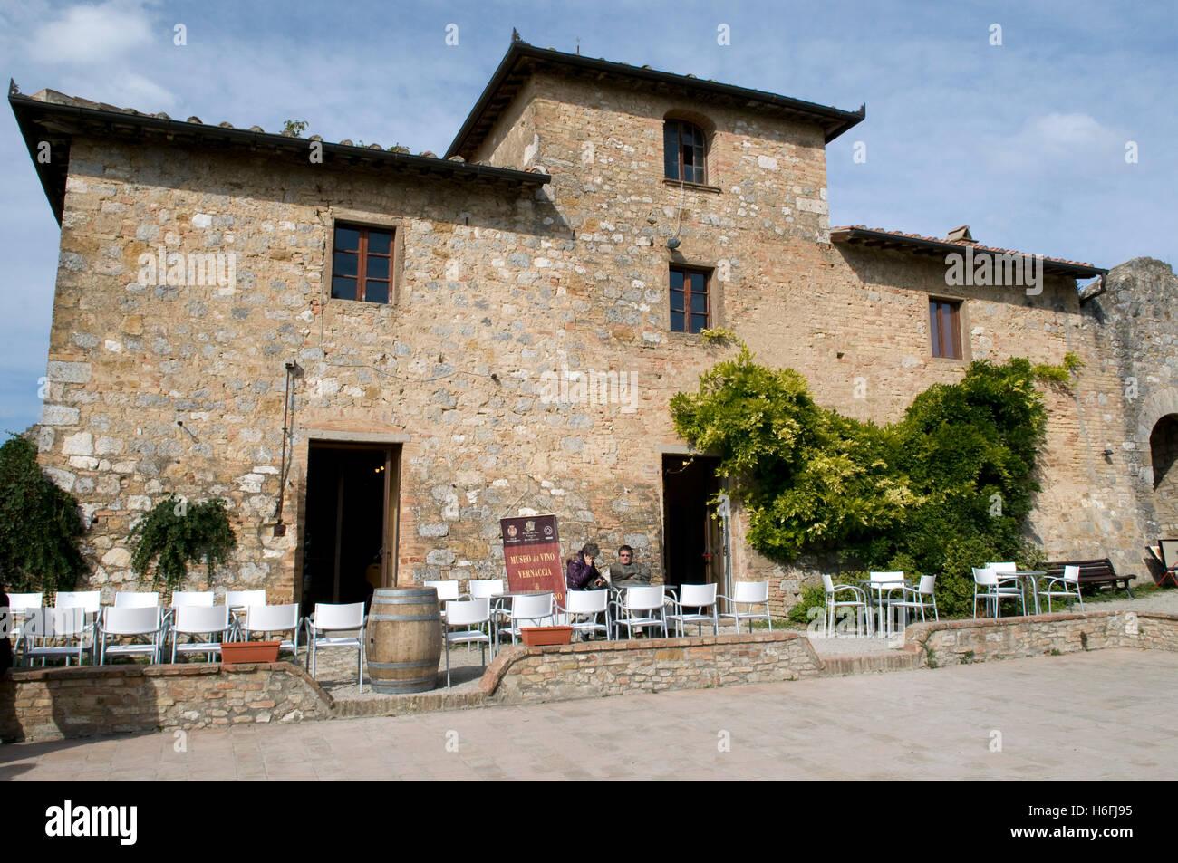 Museo Del Vino.Museo Del Vino San Gimignano Stock Photos Museo Del Vino San