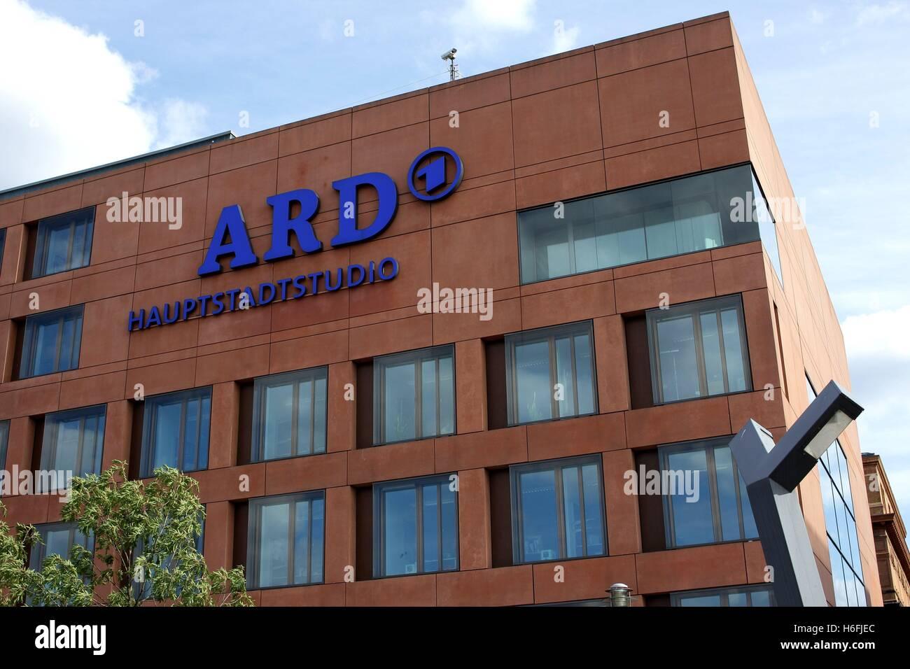 ARD studio in Berlin. - Stock Image