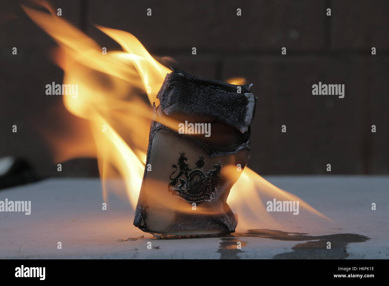 cancer on fire - Stock Image