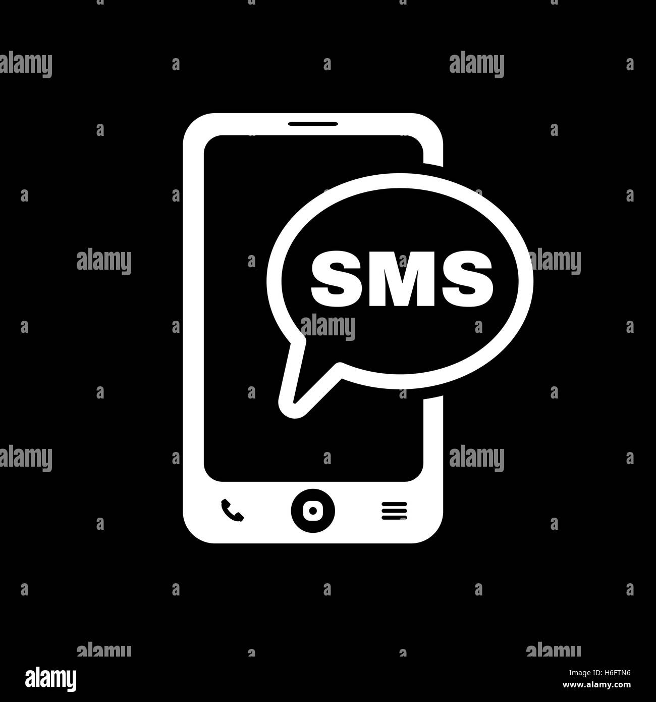 Sms Icon Text Message Symbol Black And White Stock Photos Images