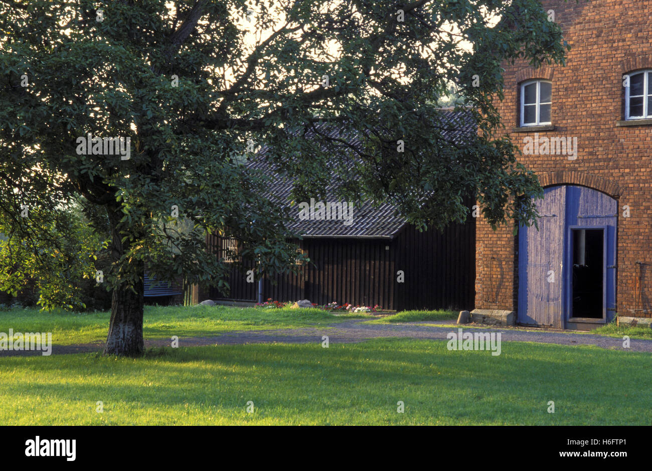 Germany, Lower Saxony, farmhouse near Rinteln - Stock Image