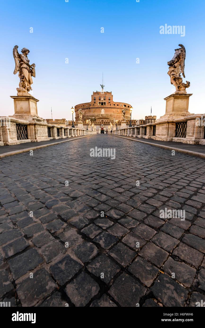 Castel Sant'Angelo or Mausoleum of Hadrian, Rome, Lazio, Italy - Stock Image