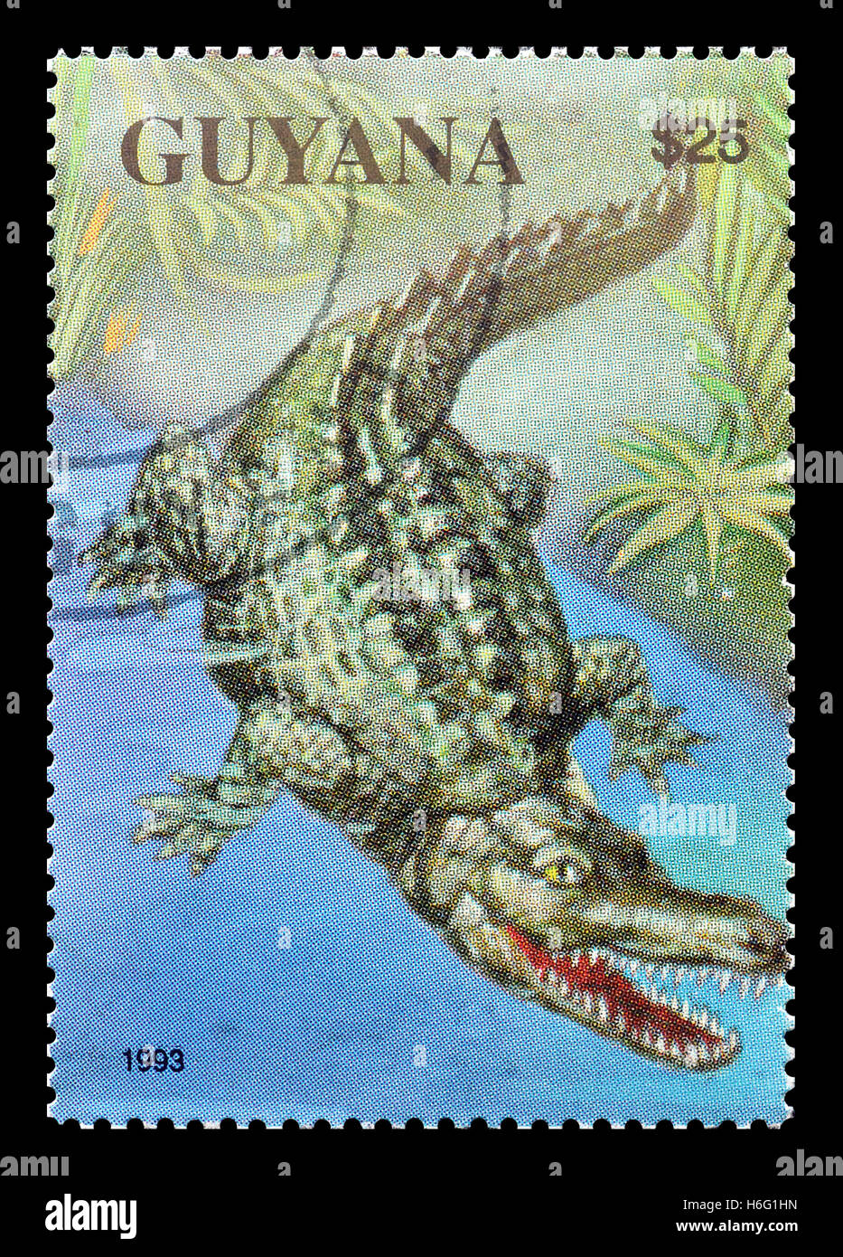 Guyana stamp 1993 - Stock Image