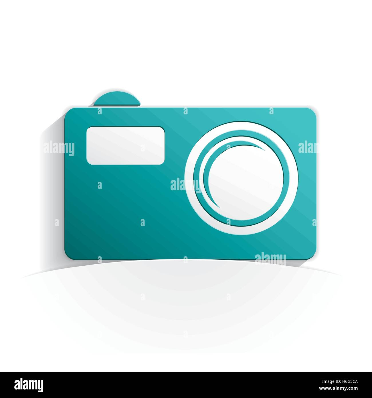 pocket camera paper icon style full vector - Stock Vector