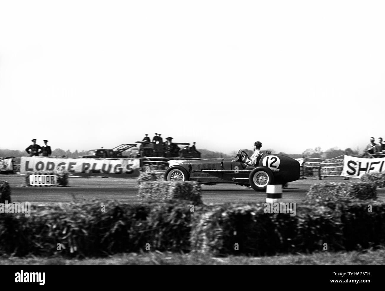 Gerard driving an ERA, 6th place at the British GP at Silverstone 1950 - Stock Image