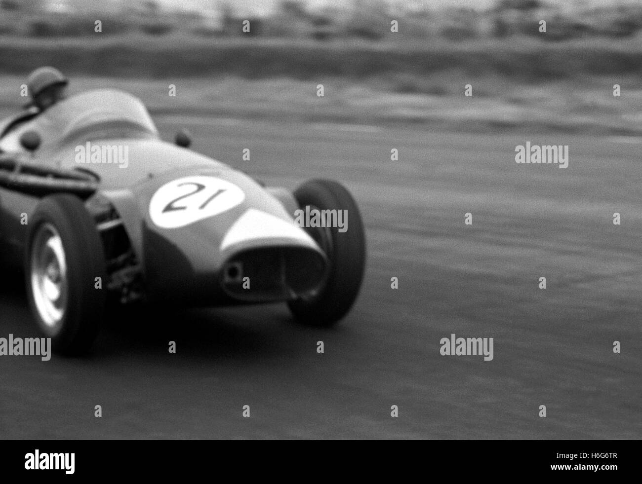 Fairman in a Connaught A Type  Silverstone 1956 - Stock Image