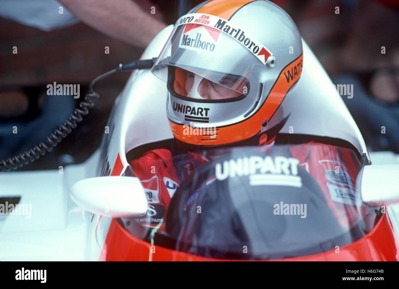 John Watson Formula 1 McLaren - Stock Image