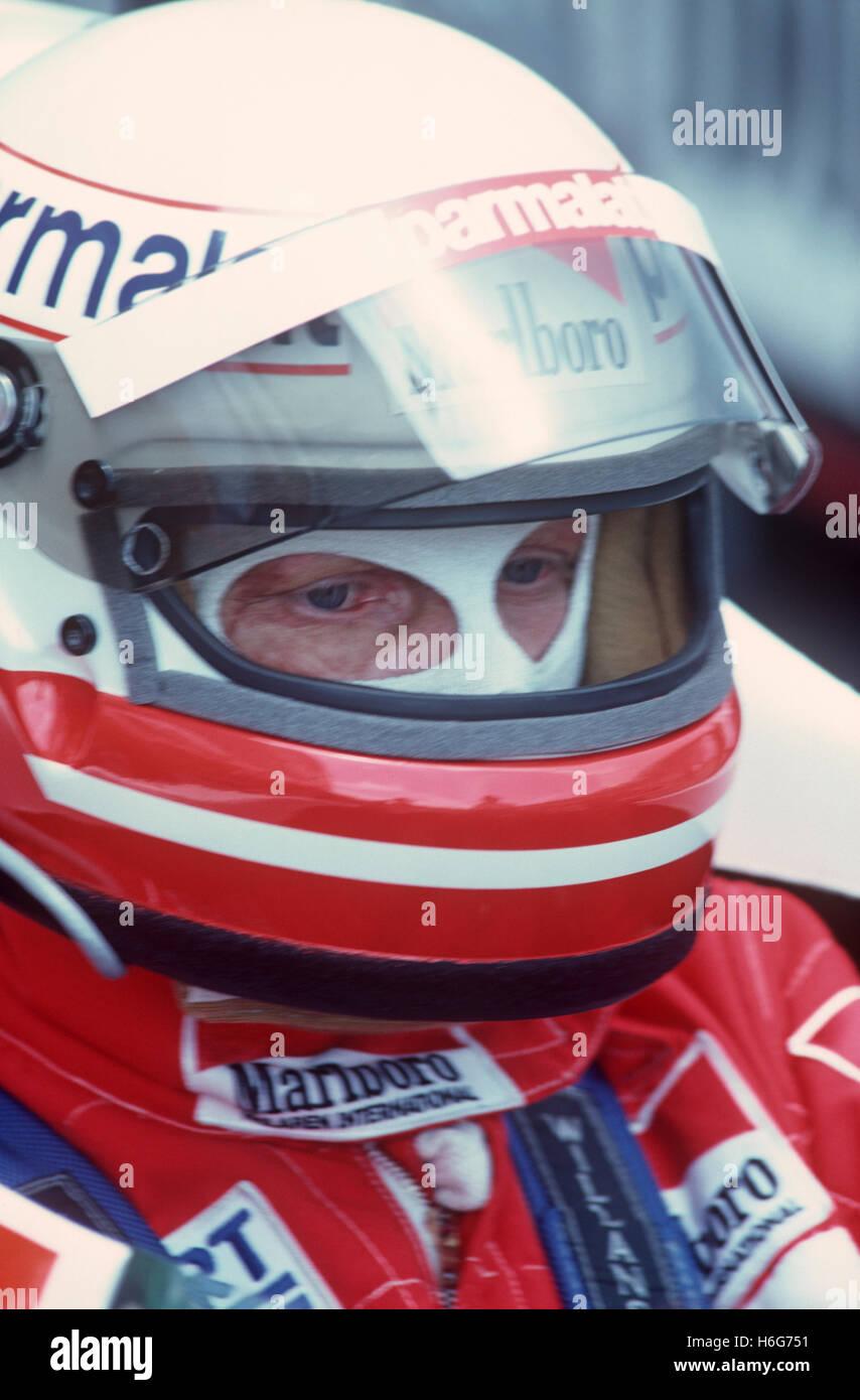 Niki Lauda 1980s - Stock Image