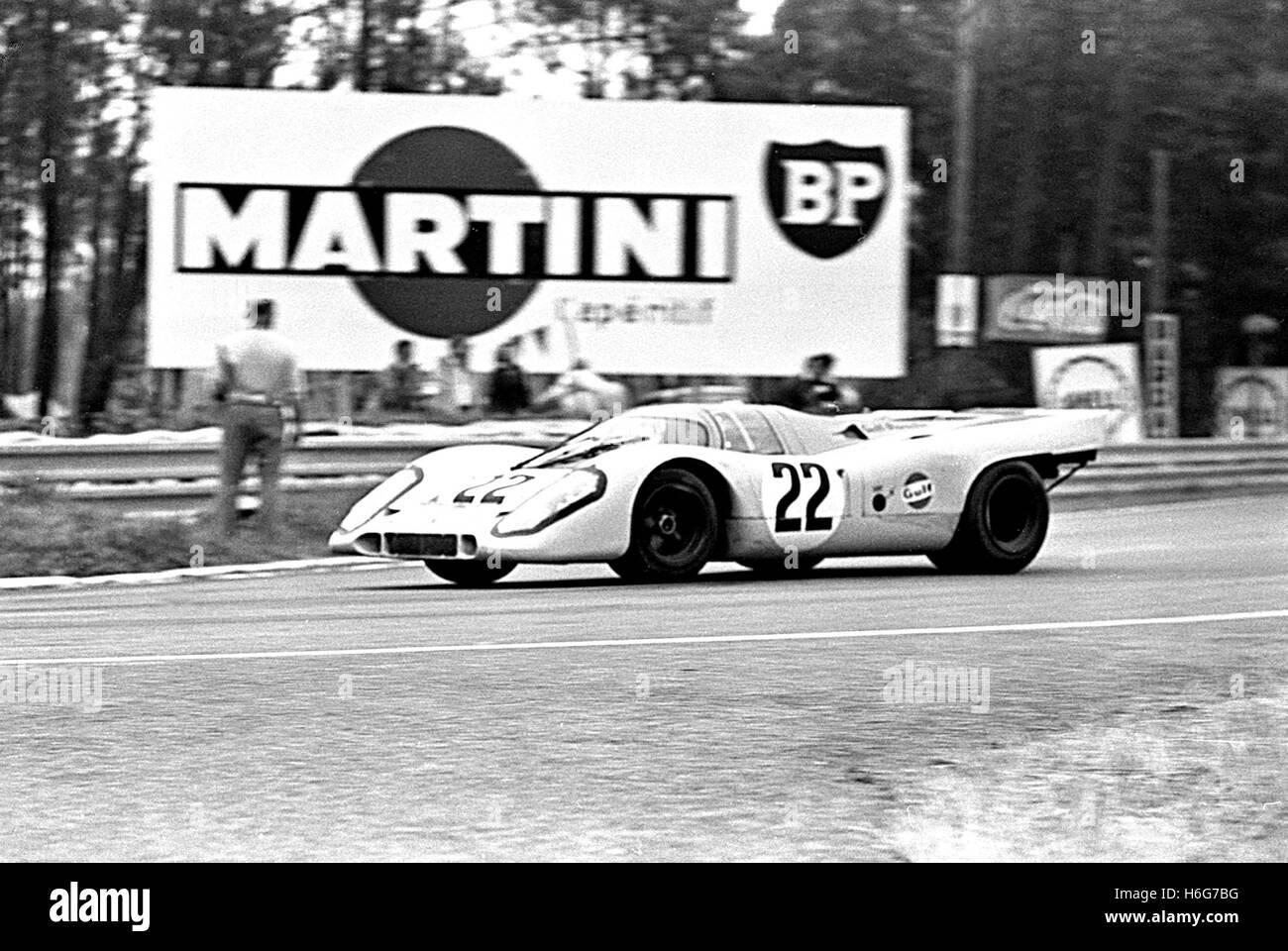 Porsche 917 of Hailwood Le Mans 1970 - Stock Image