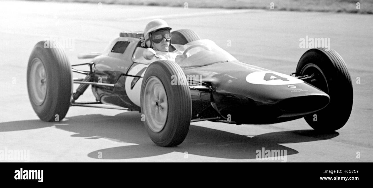 BRITISH GP TAYLOR LOTUS 25 Silverstone 1963 - Stock Image