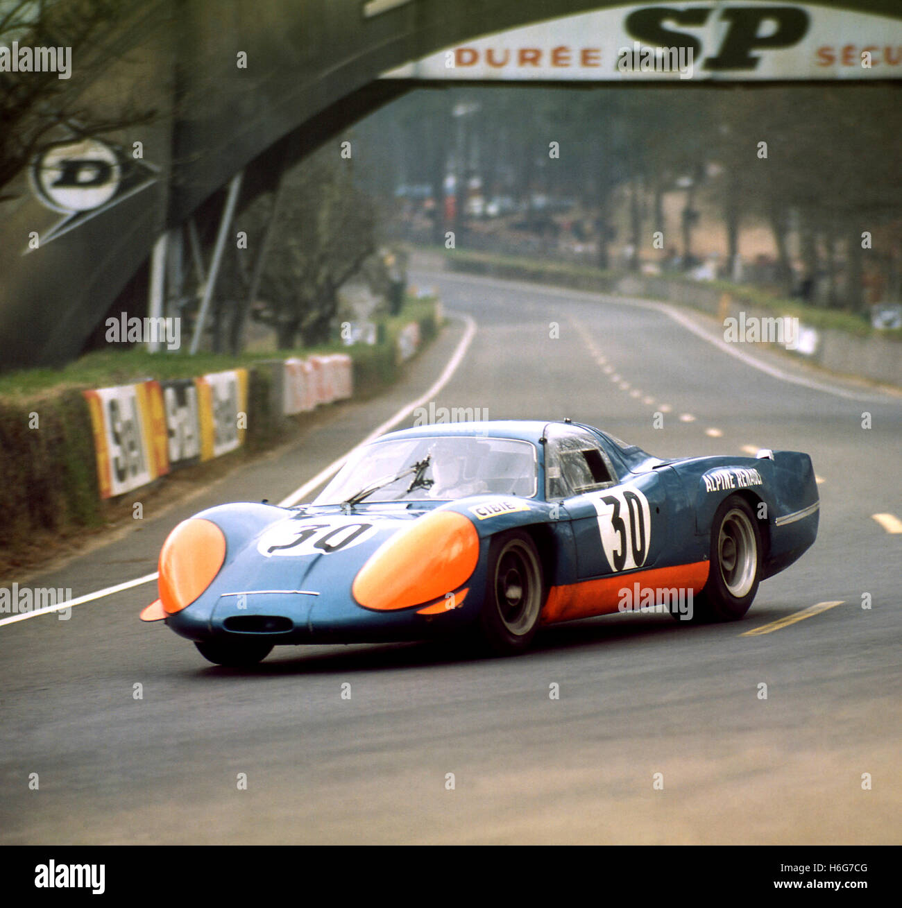 LE MANS TEST WEEKEND ALPINE-RENAULT NO 30 1969 - Stock Image