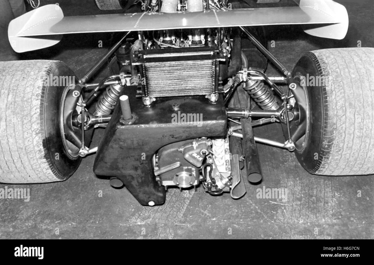 BRM REAR SUSPENSION 1970 - Stock Image