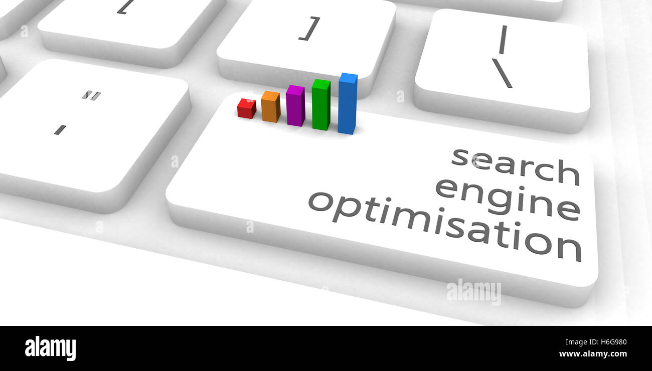 Search Engine Optimisation or SEO as Concept - Stock Image