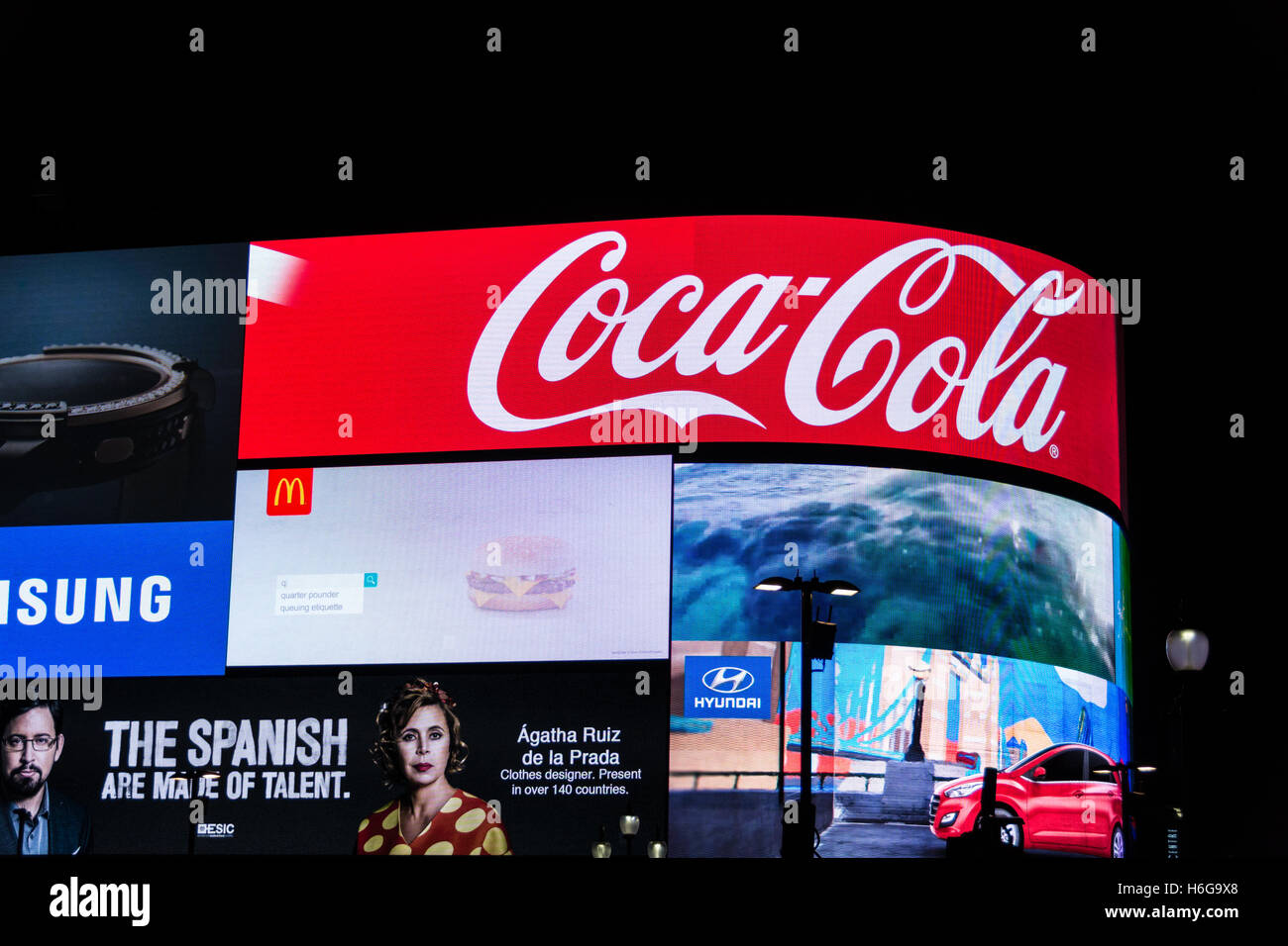Piccadilly Circus in Central London England GB UK EU Europe - Stock Image