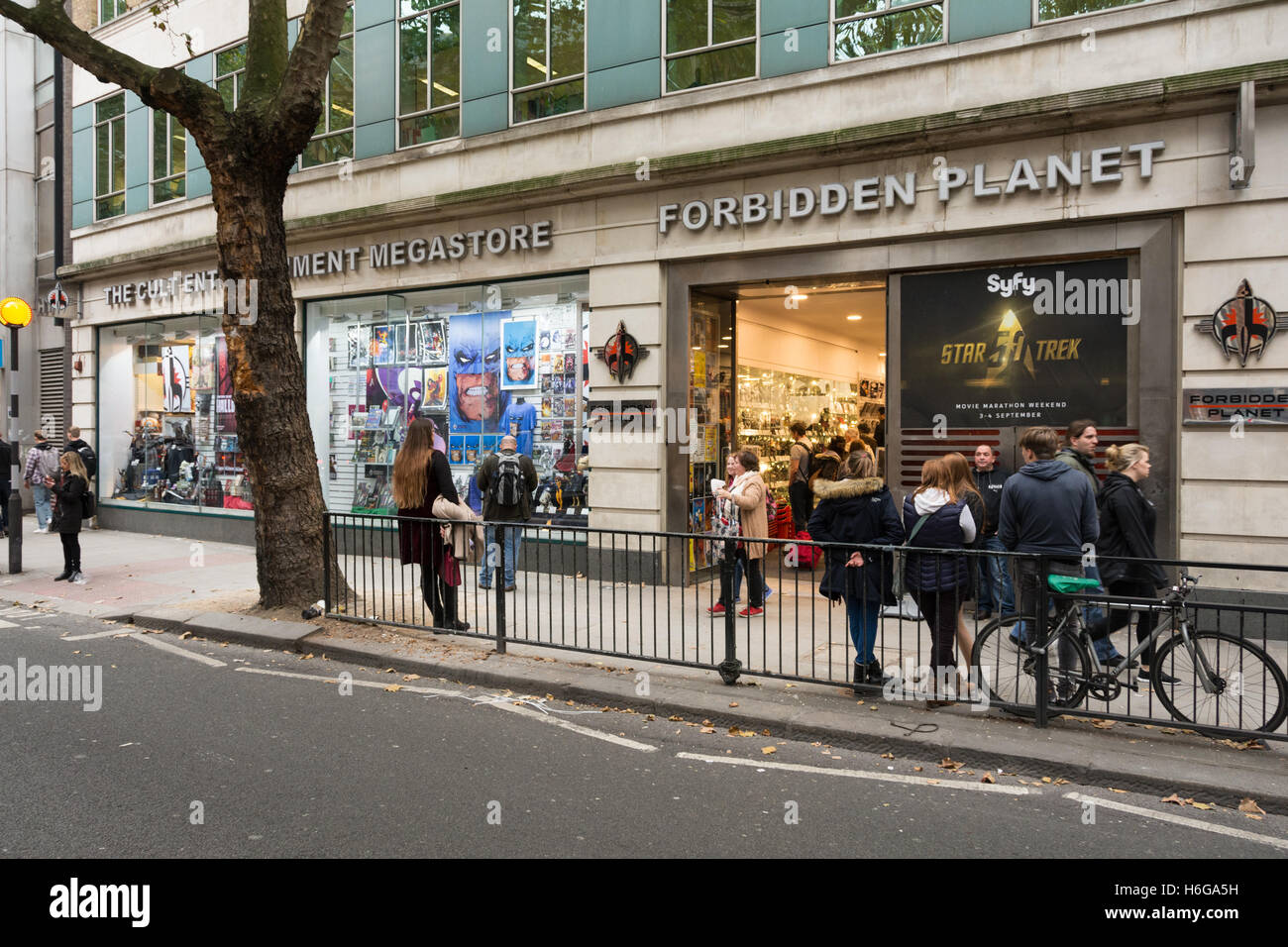 The Forbidden Planet megastore on Shaftesbury Avenue, London