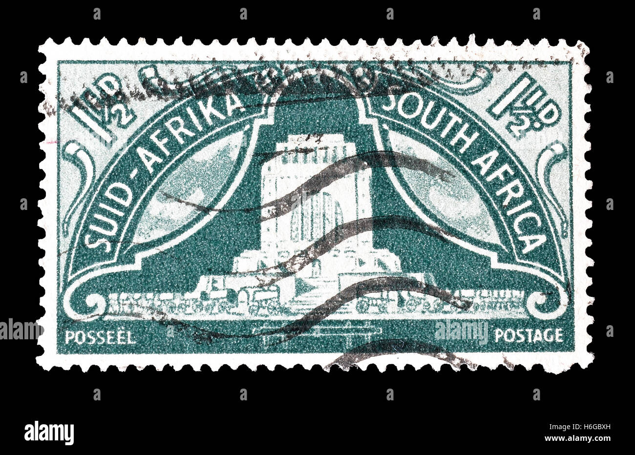 South Africa stamp 1949 - Stock Image