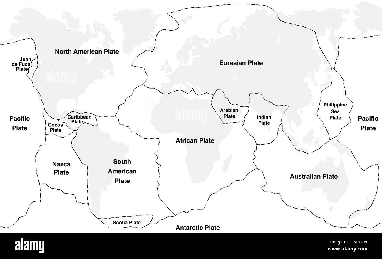 Tectonic plates with names world map with fault lines of major an tectonic plates with names world map with fault lines of major an minor plates gumiabroncs Choice Image