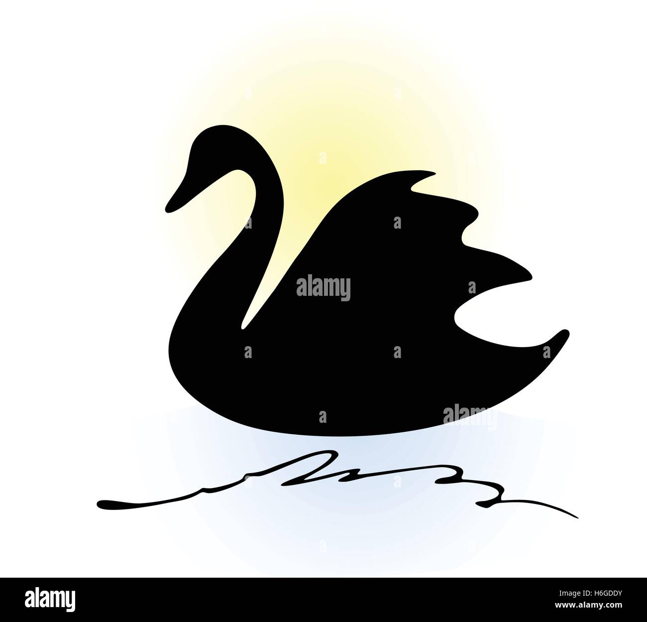 Swan Drawing Stock Photos Swan Drawing Stock Images Page 2 Alamy