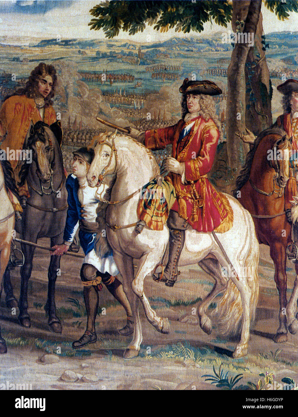 JOHN CHURCHILL, Ist Duke of Marlborough (1650-1722) English soldier and statesman at the Battle of Blenheim 13 August - Stock Image