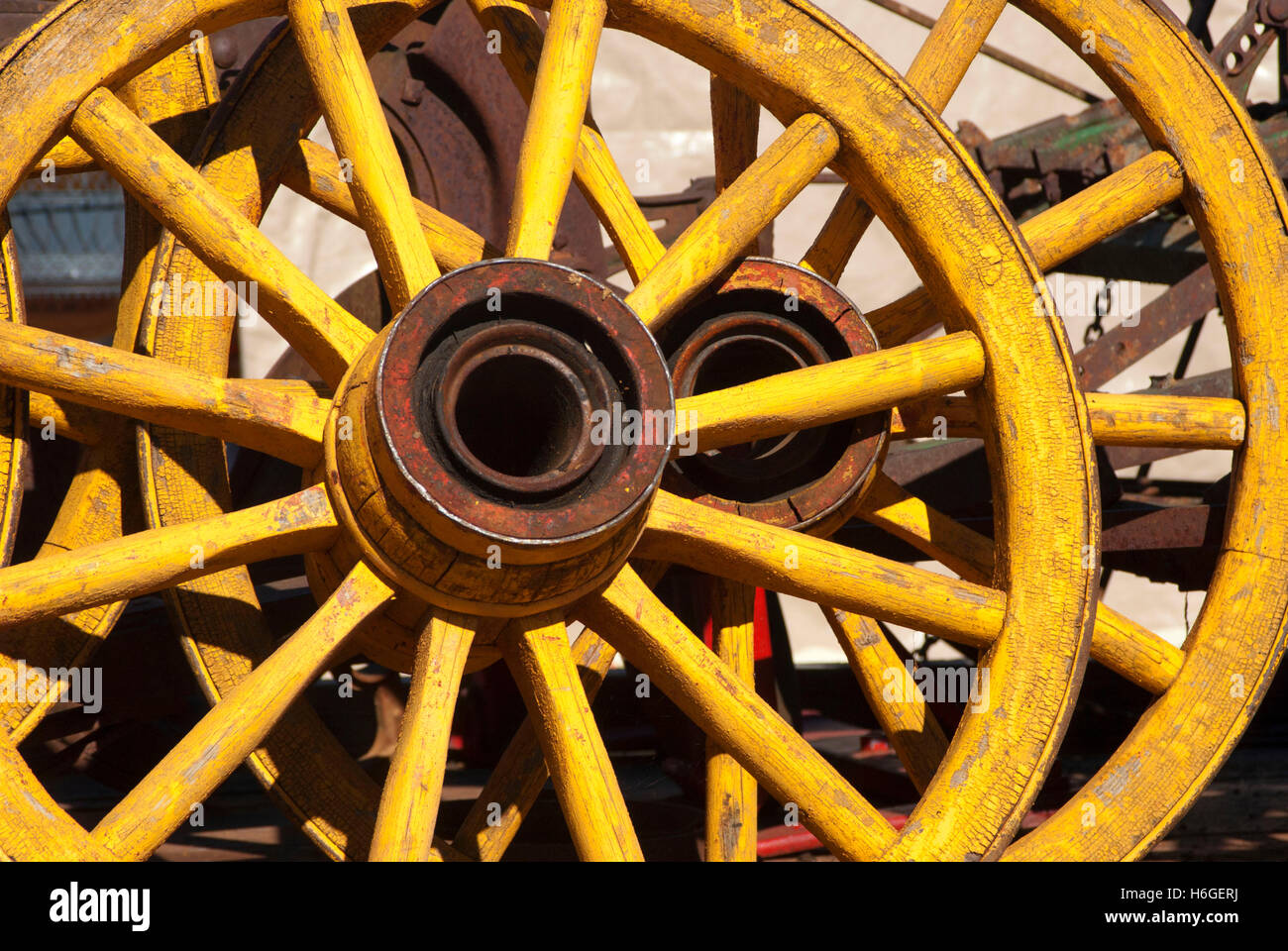 Antique Wagon Wheels Stock Photos & Antique Wagon Wheels Stock ...