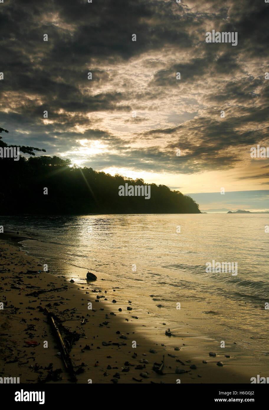 uninhabited island. Sulawesi, Indonesia - Stock Image