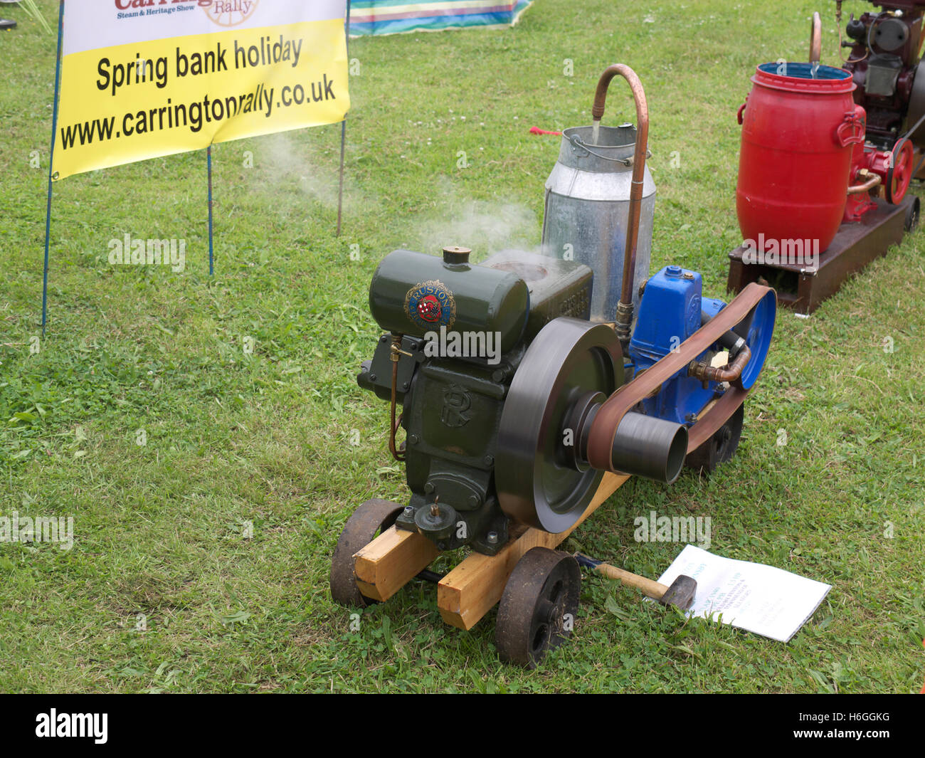 Ruston stationary engine at Fir Park open weekend - Stock Image