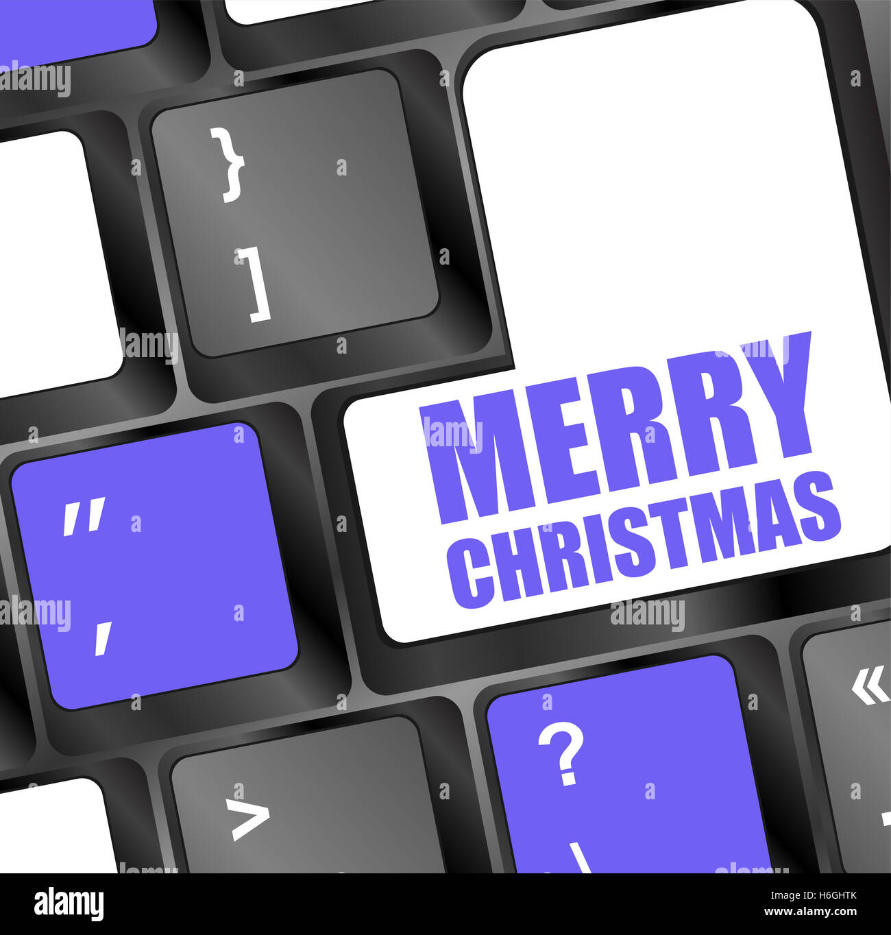 Computer Keyboard With Merry Christmas Key Stock Photo 124525763