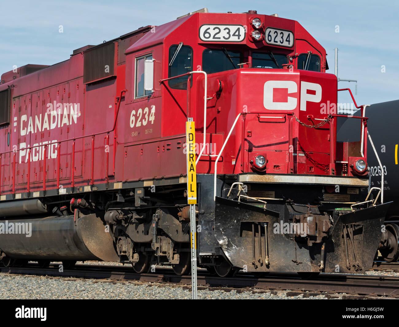 Canadian Pacific Railway locomotives, Medicine Hat, Alberta, Canada - Stock Image