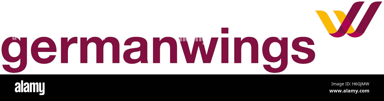 Logo of the German airline Germanwings with seat in Cologne and subsidiary of the Lufthansa Group. - Stock Image