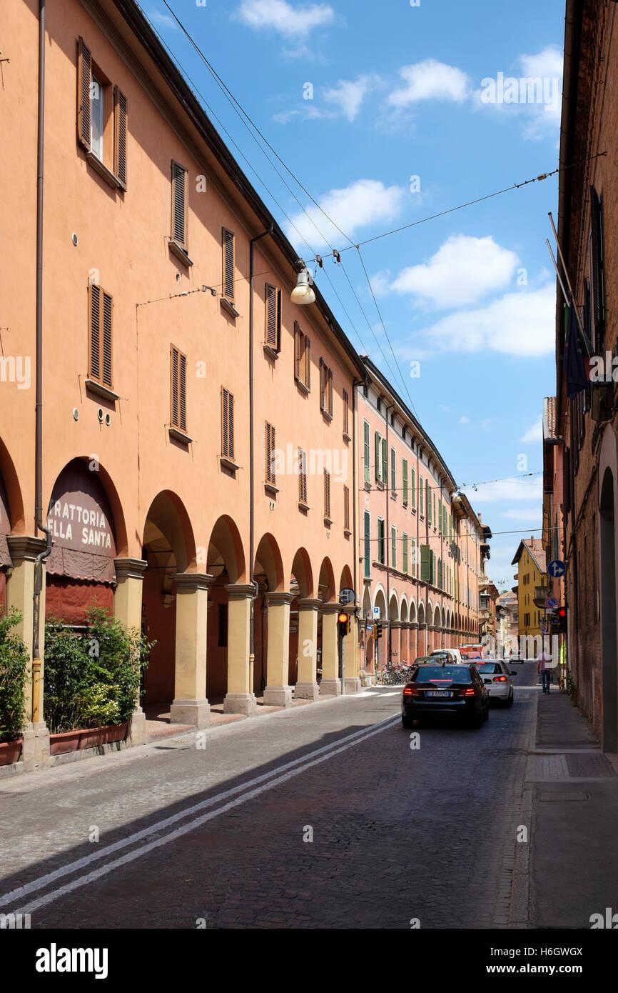 The Via Urbana, Bologna, Italy. - Stock Image
