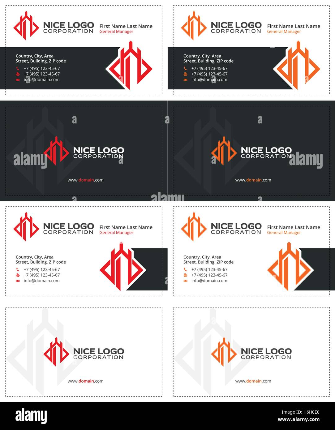 defender business card 1 - Stock Vector