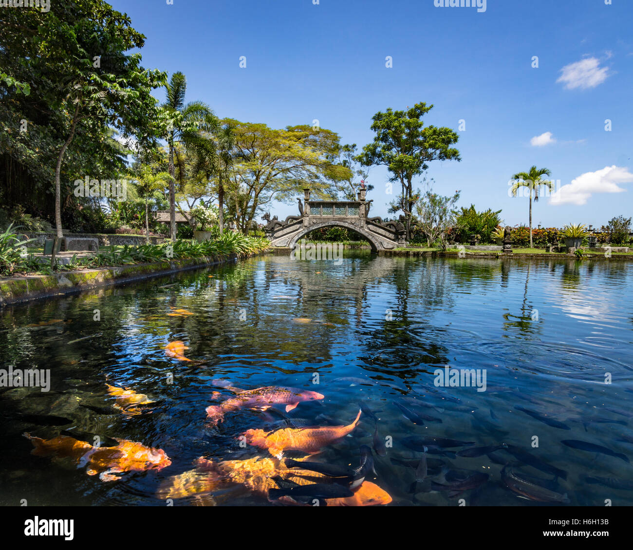 Indonesia Asia Bali Island Tirta Gangga Water Palace: Mount Agung Bali Eruption Stock Photos & Mount Agung Bali
