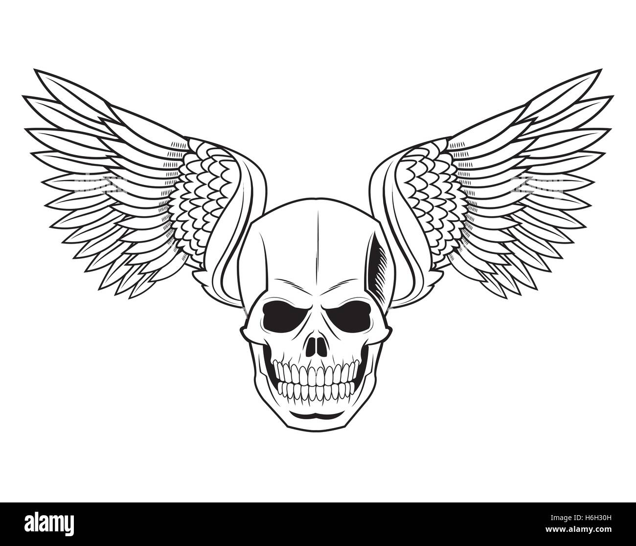 Skull And Wings Tattoo High Resolution Stock Photography And Images Alamy