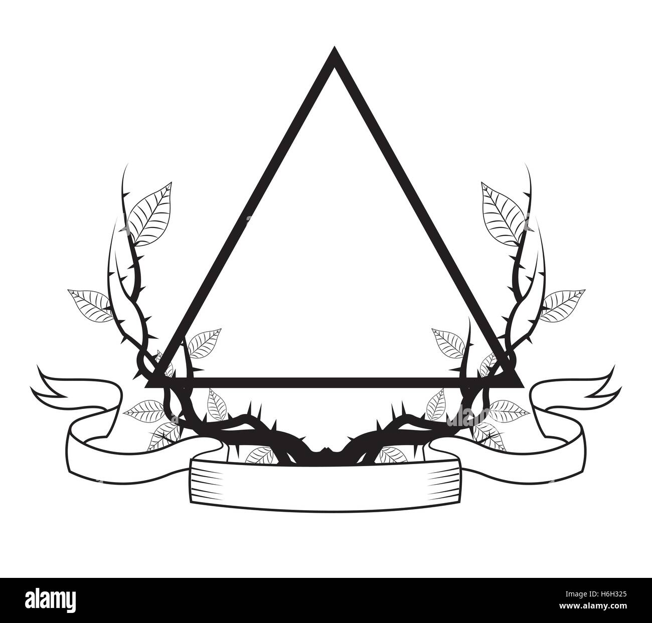 Triangle Tattoo Art Design Stock Vector Art Illustration Vector