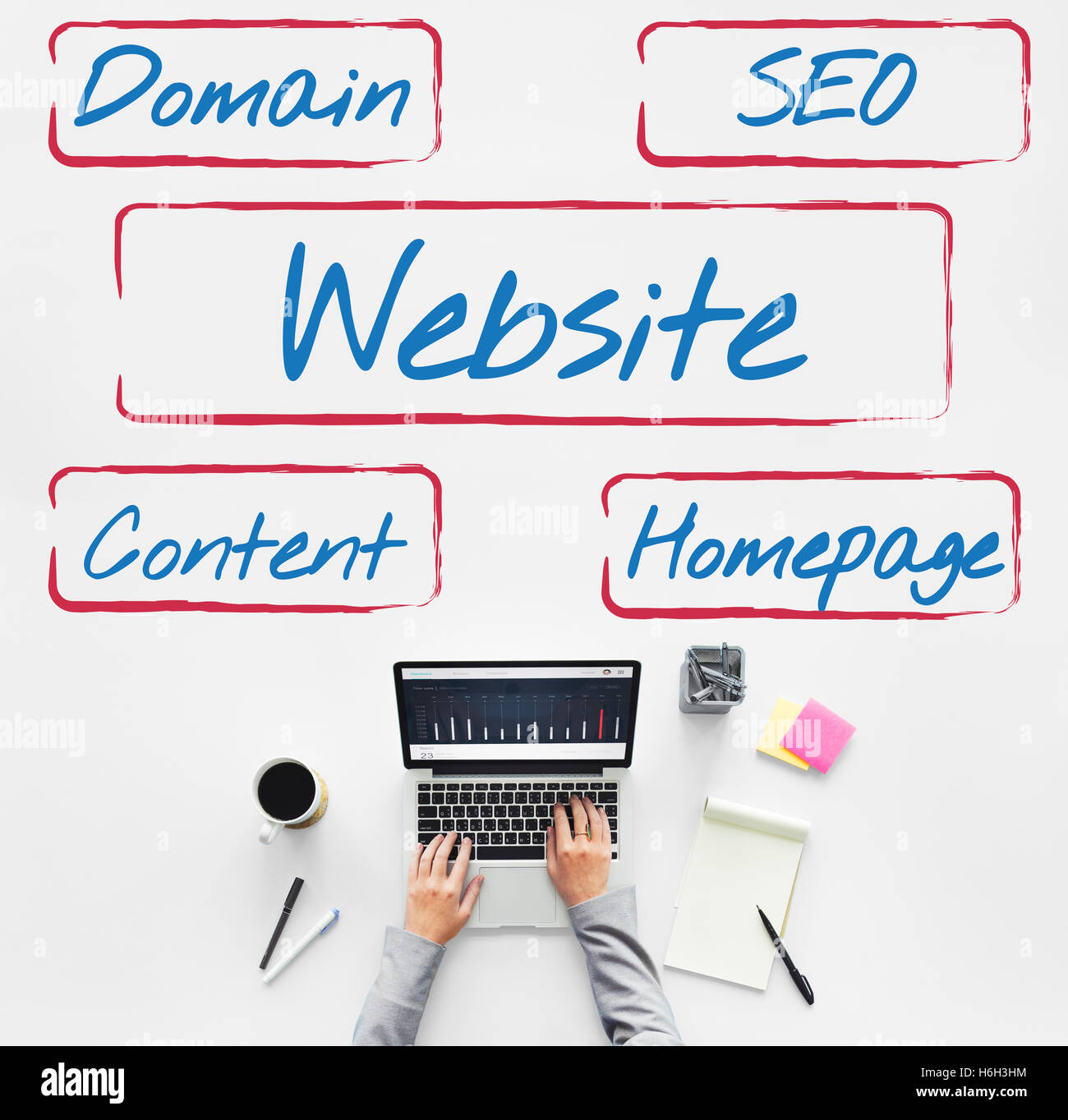 Website Template Content Homepage Domain SEO Words Concept Stock ...