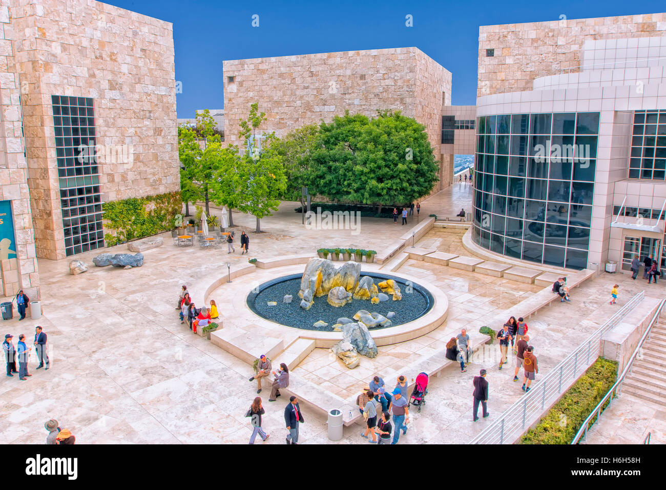 Getty Center in Los Angeles - Stock Image