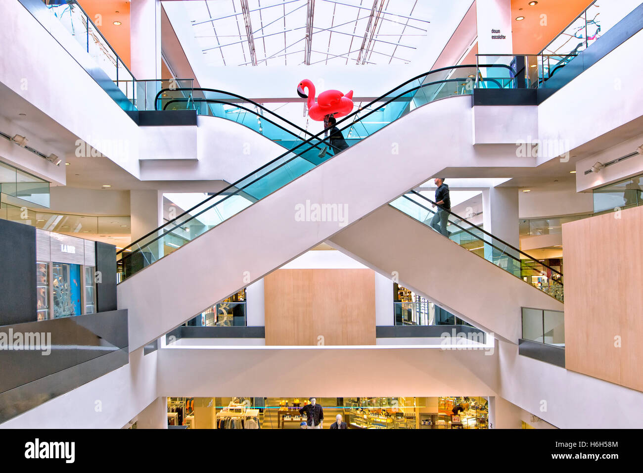 The Beverly center shopping Mall in Los Angeles - Stock Image