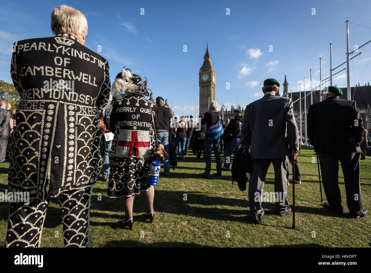 Justice for Marine 'A' solidarity protest in Parliament Square, London, UK for Royal Marine Commando Sgt - Stock Image