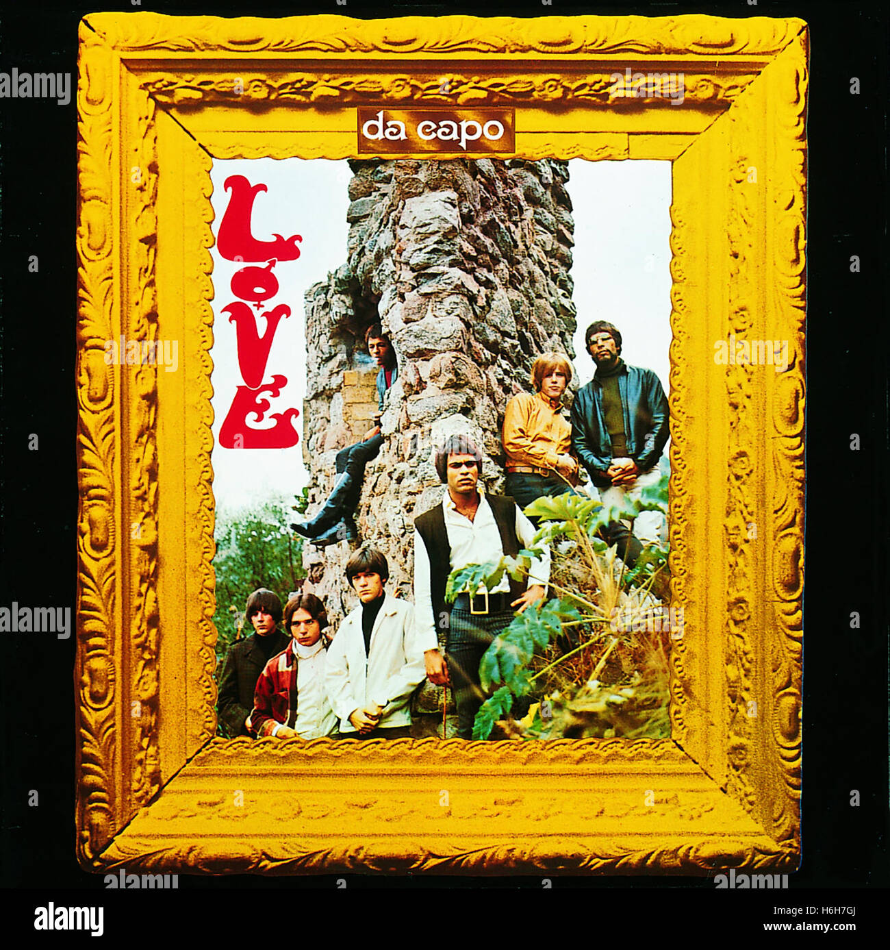 The cover of LP 'Da Capo' by the band LOVE, featuring Arthur Lee,  circa 1966 - Stock Image