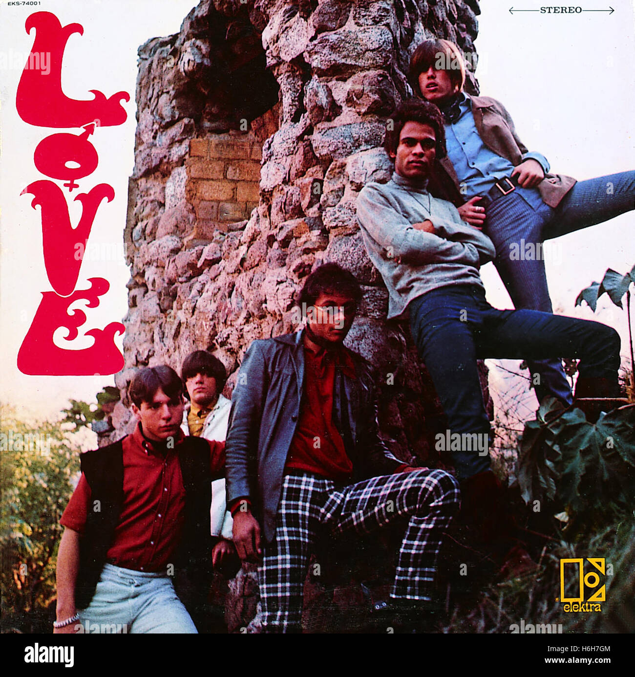 LOVE, the band circa 1960s featuring Arthur Lee. - Stock Image