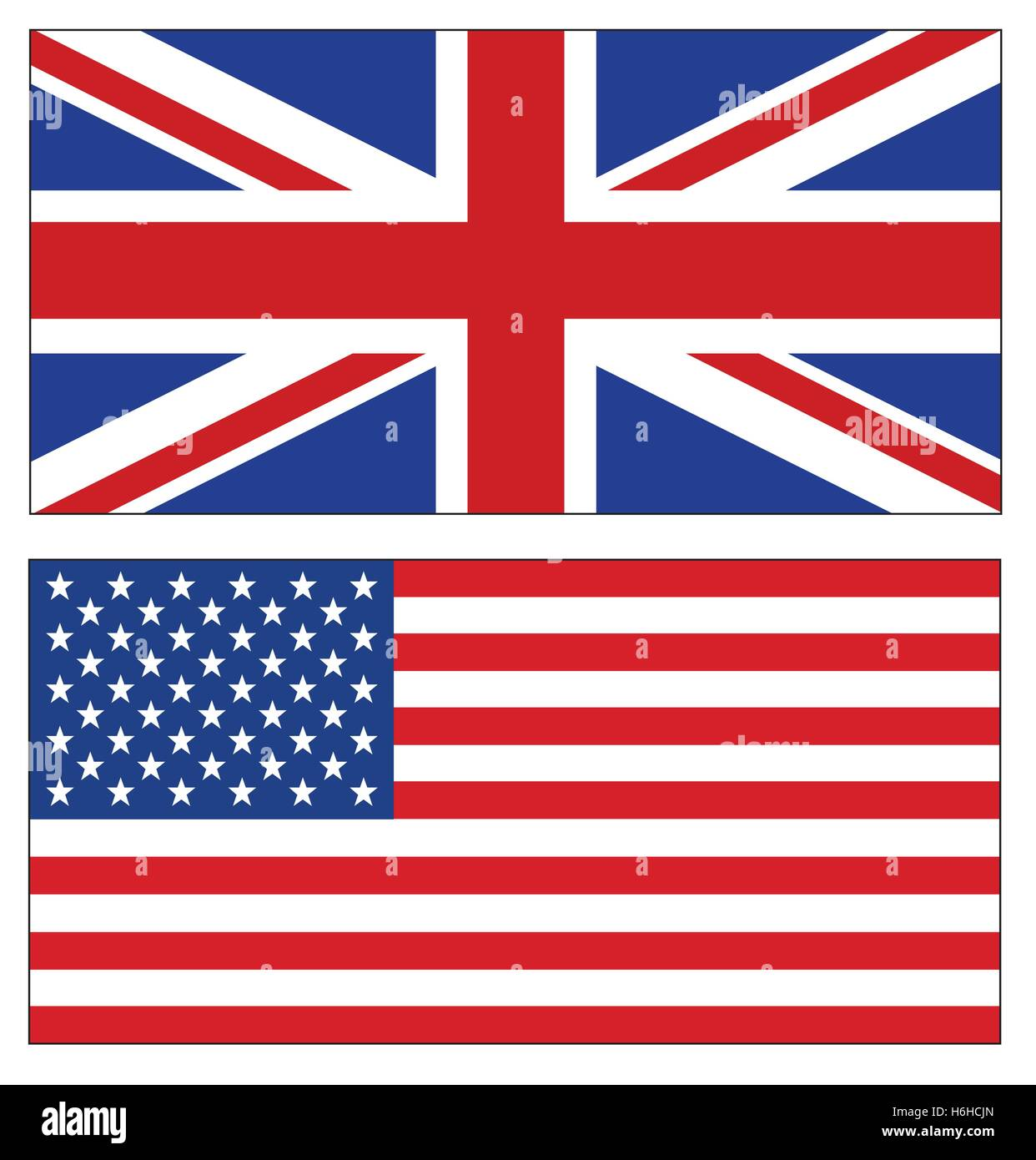 9f868476ec81 Set of UK and USA flags illustration on white background. British and  American flags.
