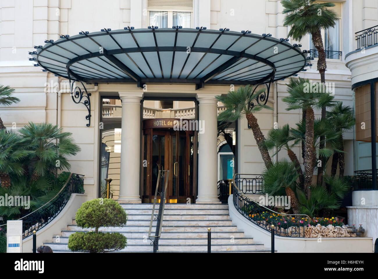 Entrance To The 5 Star Grand Hotel De Paris Monte Carlo