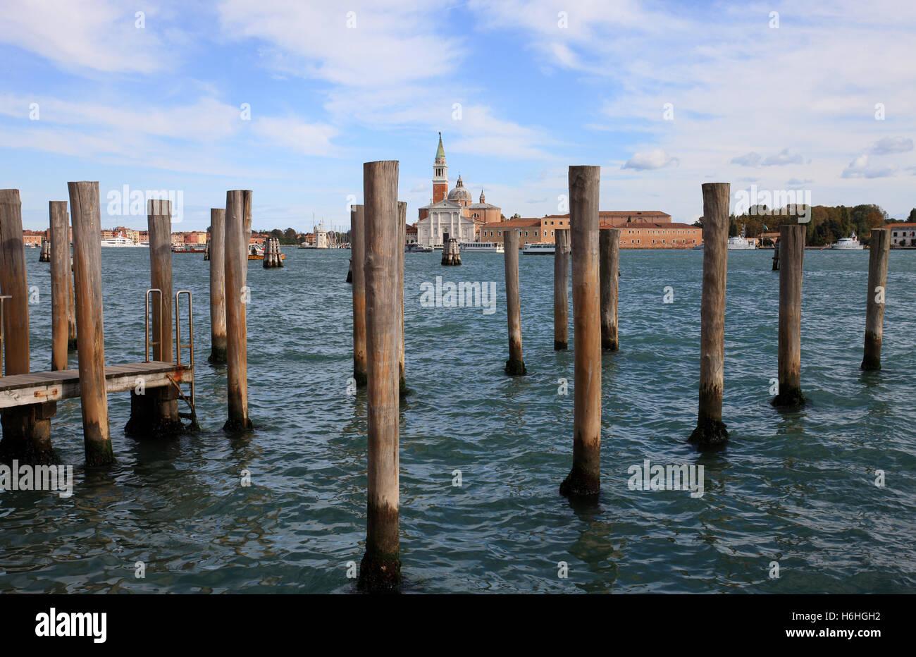 A view over the Bacino San Marco Venice Italy - Stock Image