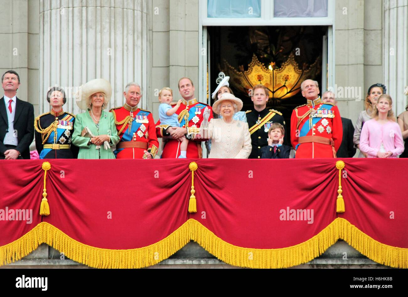 Trooping The Color Balcony Stock Photos & Trooping The Color Balcony ...