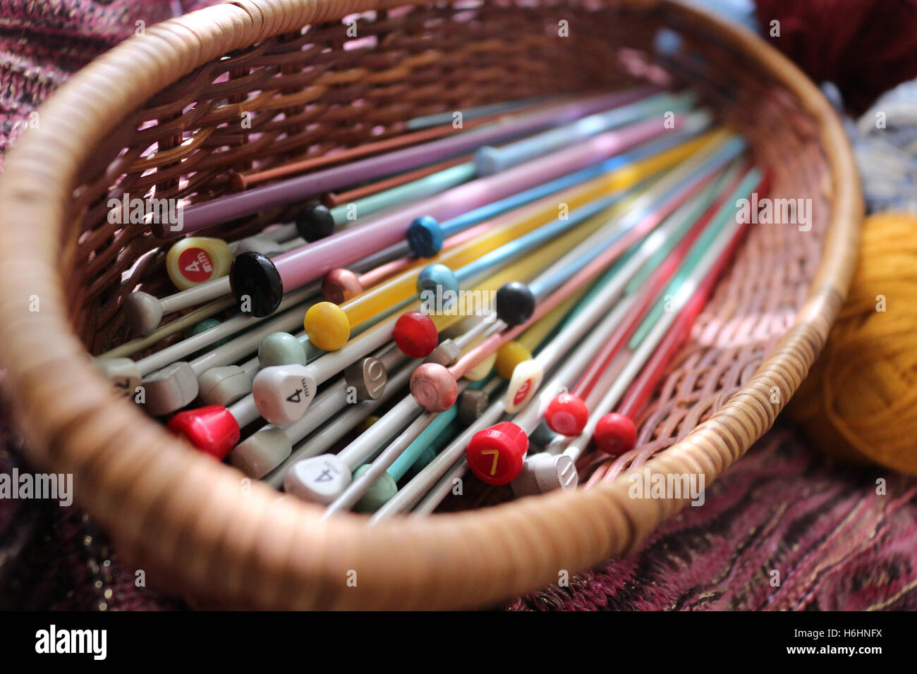Knitting Needles - Stock Image