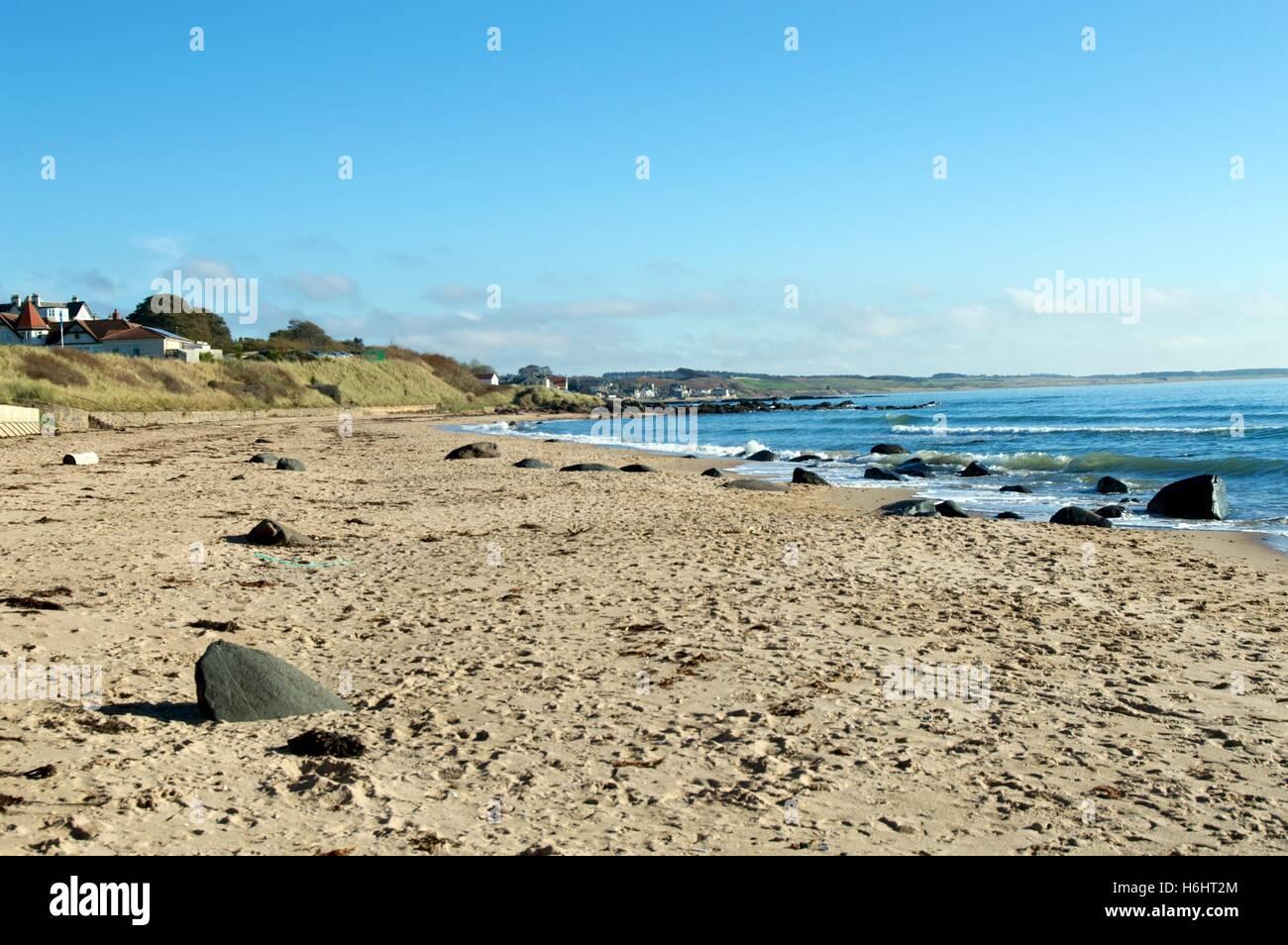 Beach at Lower Largo Fife Scotland - Stock Image