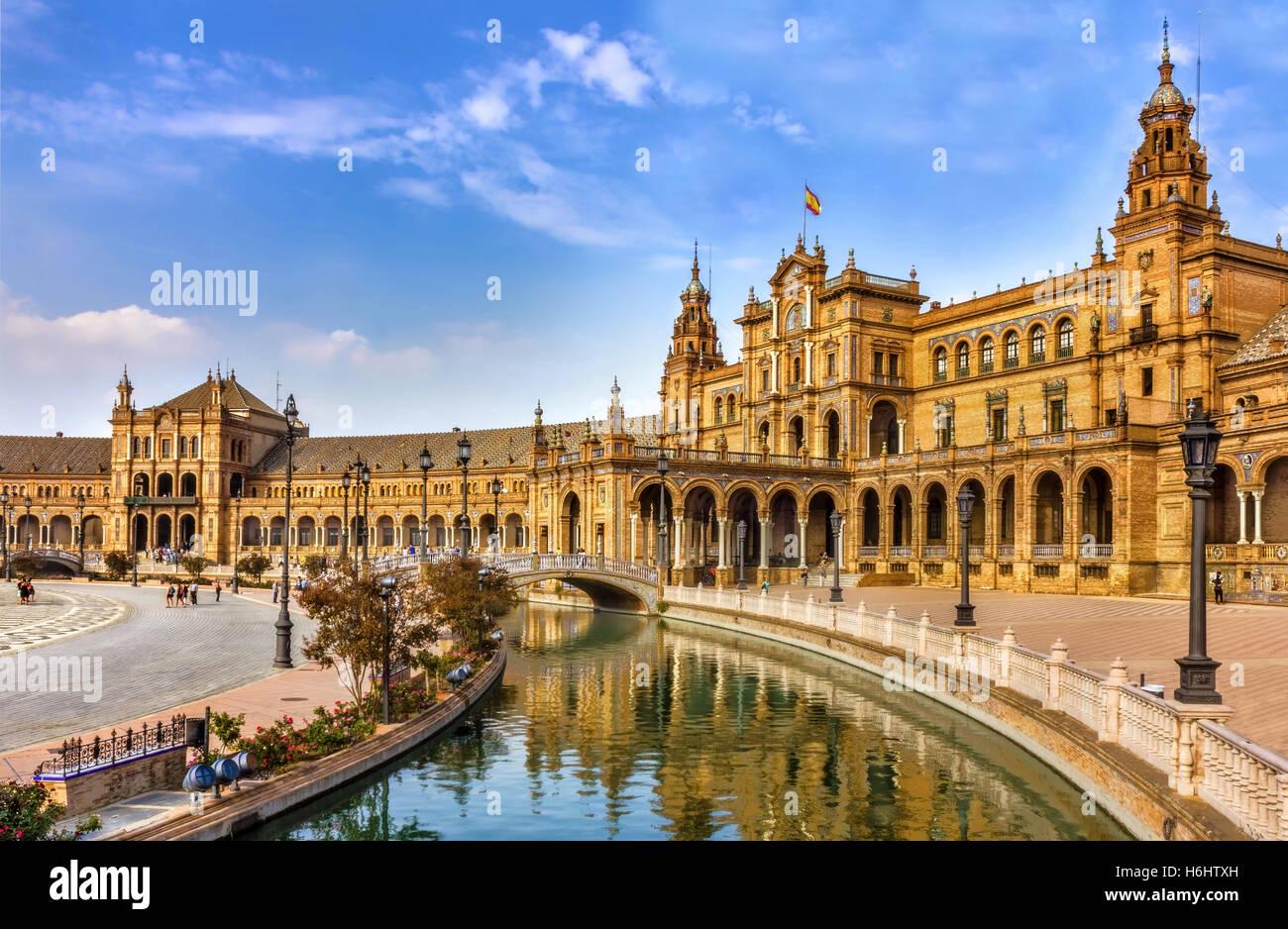 Spanish Square in Sevilla, Spain Stock Photo