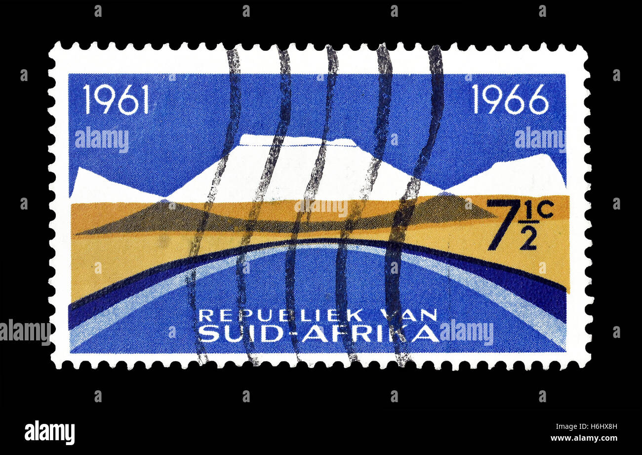 South Africa stamp 1966 - Stock Image